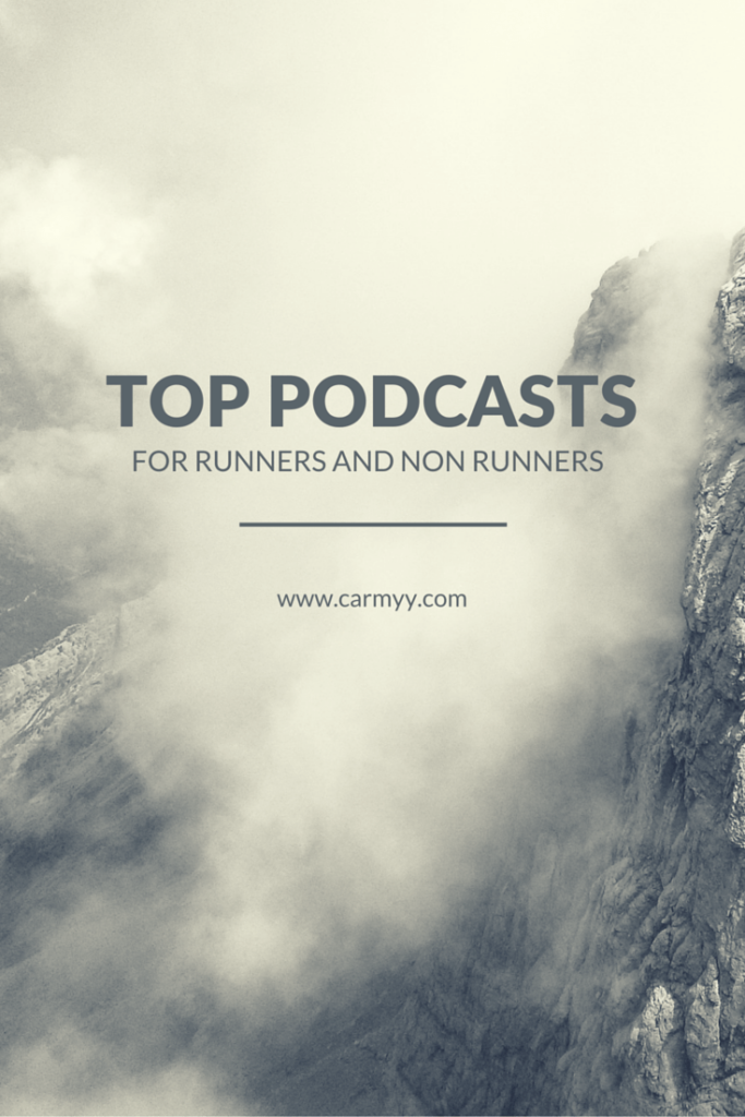My Top Podcasts for Getting Through a Workout #runchat  https://www.carmyy.com/my-top-podcasts/