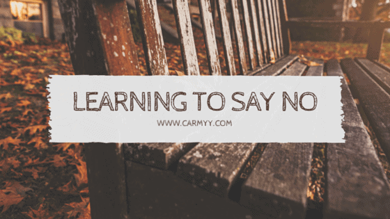learning to say no