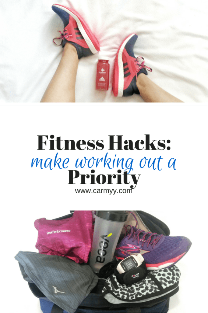 FITNESS HACK: How to make working out a priority! www.carmyy.com